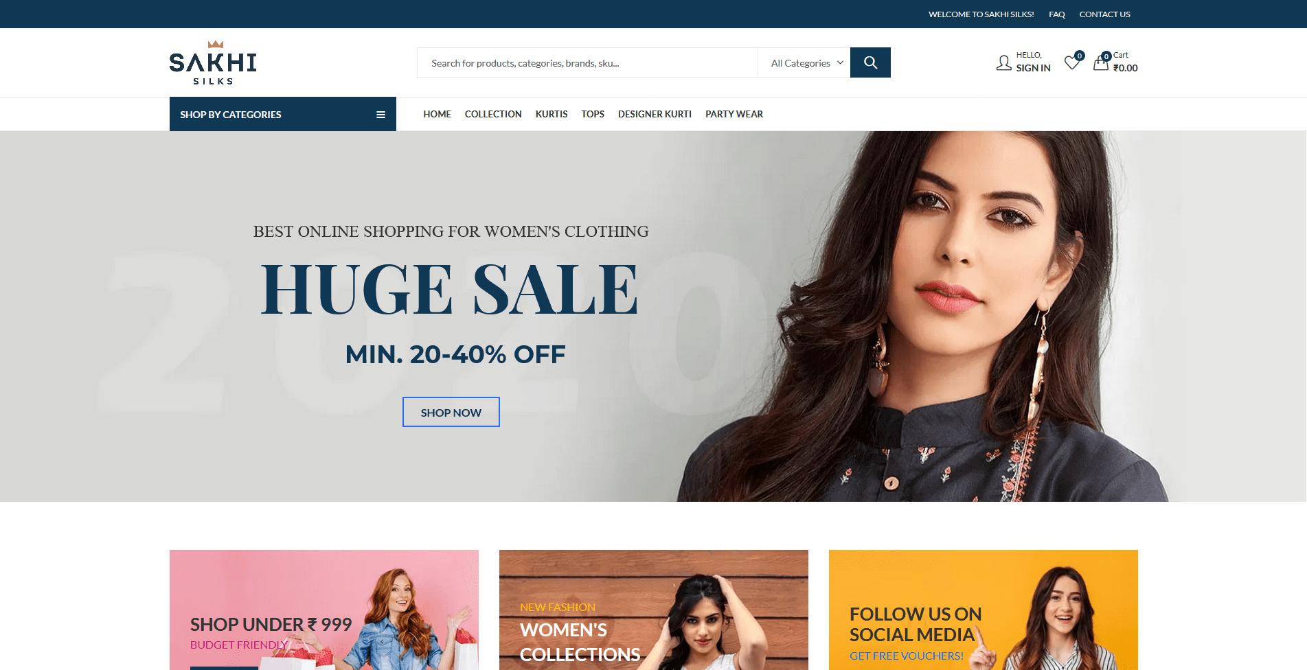 Sakhi Silks online Fashion store for women
